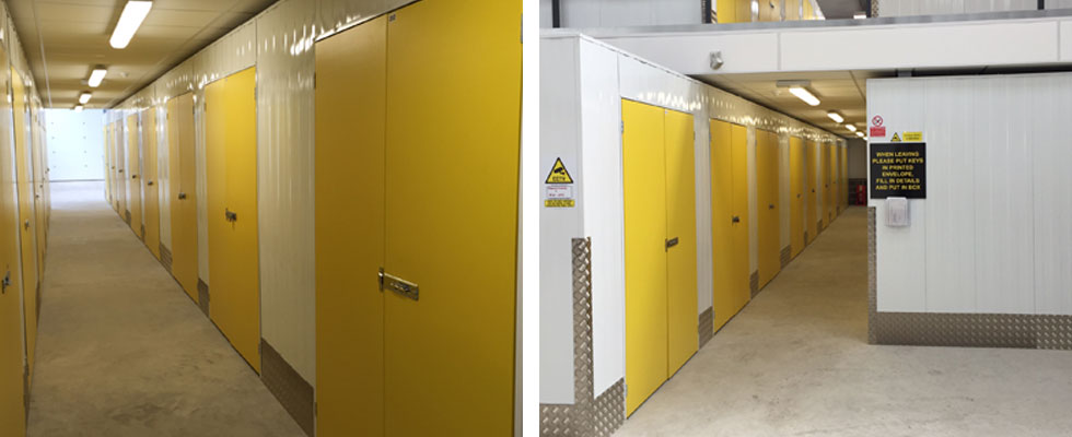 purpose built storage units - no long term contract